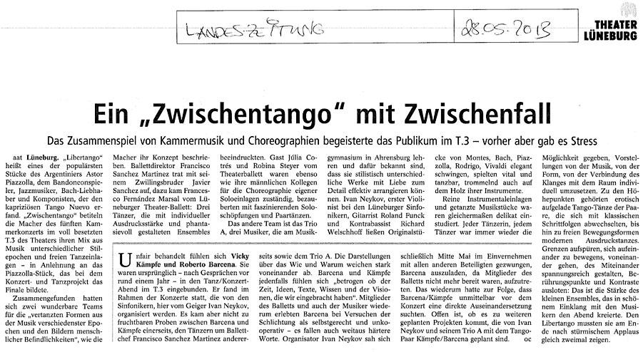 Zwischentango-Landeszeitung